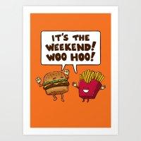 The Weekend Burger Art Print