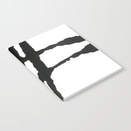 0523: a simple, bold, abstract piece in black and white by Alyssa Hamilton Art Notebook