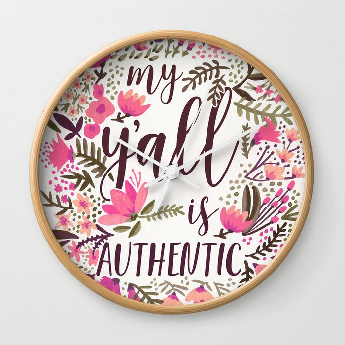 My Y'all is Authentic – Vintage Palette Wall Clock