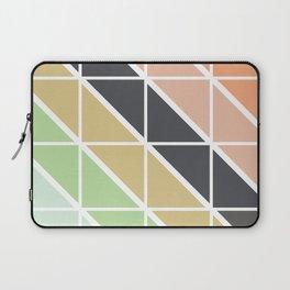 Retro Geometric Triangle Pattern Laptop Sleeve