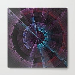 Tech Time Wheel Metal Print