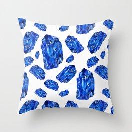 Tanzanite Birthstone Watercolor Illustration Throw Pillow