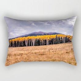 Aspens North of Flagstaff Arizona - Humphreys Peak Rectangular Pillow