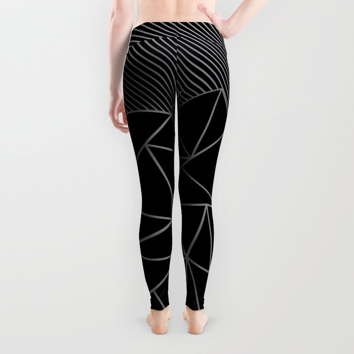 Ab Lines 45 Grey and Black Leggings