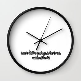 Throat punch Wall Clock