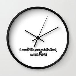 Throat punch Wall Clock