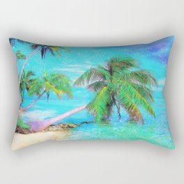 Palms on the Bay Rectangular Pillow