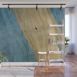 Eucalypus Turquoise Wood Wall Mural