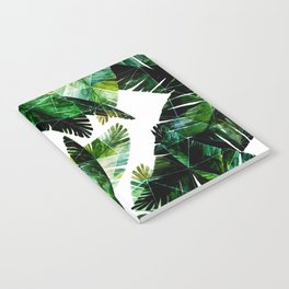 Green leaves of a banana. 2 Notebook