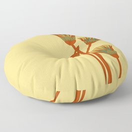 Ancient Egyptian lotus - Colorful Floor Pillow