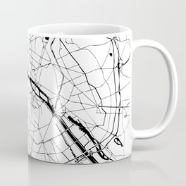 Paris Minimal Map Coffee Mug