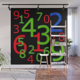 RGB Numbers Wall Mural
