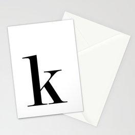 "Monogram Series Letter ""K""  Stationery Cards"