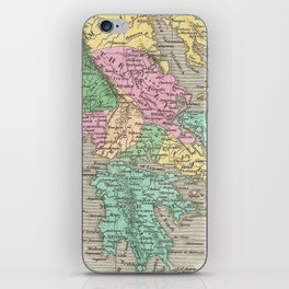 Vintage Map of Greece (1827) iPhone Skin