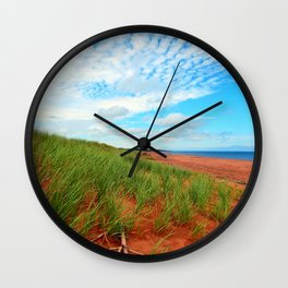 Red Dunes and Beach Grass Wall Clock