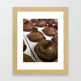 Aztec Chile chocolate cupcakes Framed Art Print