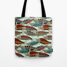 Alaskan salmon mint Tote Bag