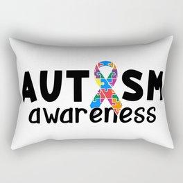 Autism Awareness Ribbon Puzzle Pieces Rectangular Pillow