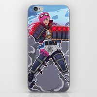 league of legends iPhone & iPod Skins featuring League of Legends: Vi by Arnix