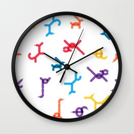 Balloon animals pattern #1 Wall Clock