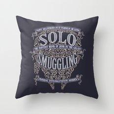Solo Smuggling Throw Pillow