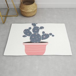 Cactus Pot Plant C15 Pink and Gray Rug