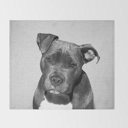 Pit bull - Black & White Throw Blanket
