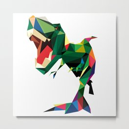 LOW POLY DINO Metal Print
