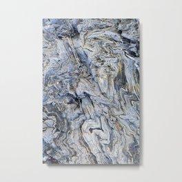 "Travel & nature photography ""detail of grey and blue rocks, Skopelos, Greece"" fine art photo print.  Metal Print"
