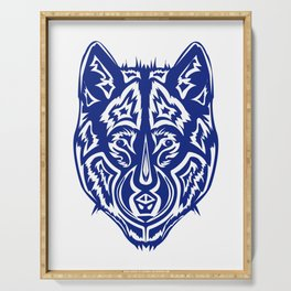 Dire Wolf - Blue Serving Tray