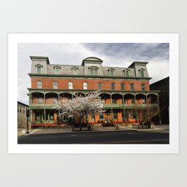 View of the Historic Union Hotel in Flemington, New Jersey Art Print