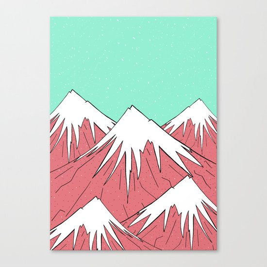 The mountains and the sky Canvas Print