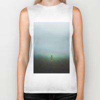 fog Biker Tanks featuring Fog by Sara Glezmar