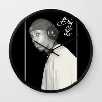 2pac Wall Clocks featuring BIG L / Put It On by Gold Blood