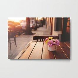 Flowers in the street Metal Print
