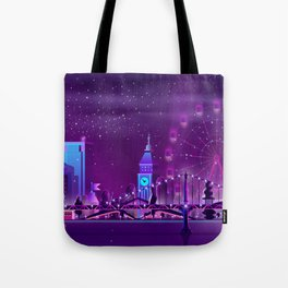 Synthwave Neon City #3 Tote Bag