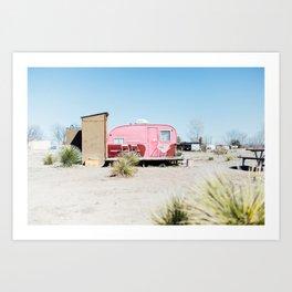 AHS Airstream: Marfa, Texas Art Print