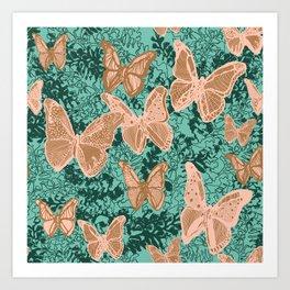 Butterflies Fluttering Art Print