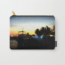 Night lights as Dusk settles over the Esplanade in Lakes Entrance - Australia Carry-All Pouch