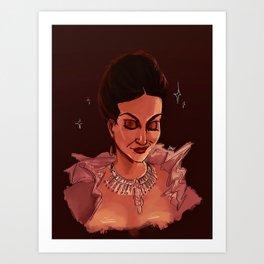 the good queen Art Print