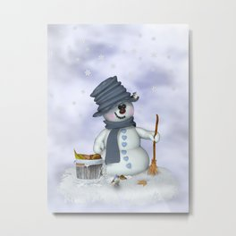 Little Snowman Metal Print