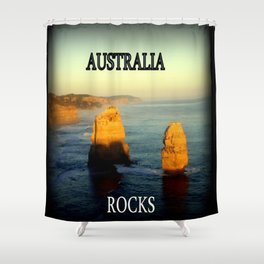 Australia Rocks Shower Curtain
