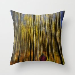 Woodsy Walk 2 Throw Pillow