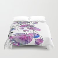 swim Duvet Covers featuring swim by serenita