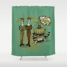 The Electro Bros and The Laugh Machine Shower Curtain