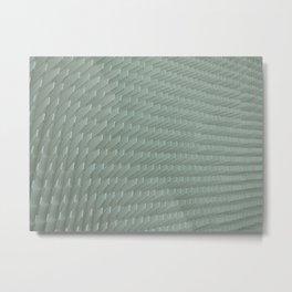 Abstract White Minimal Pattern Metal Print