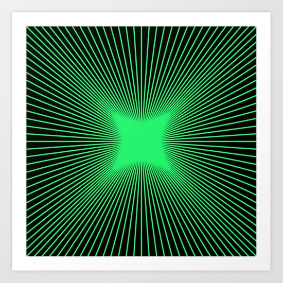 The Emerald Illusion Art Print