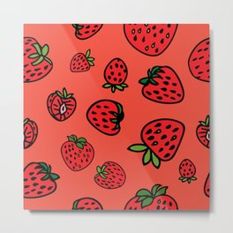 Strawberry Coral Jam Metal Print
