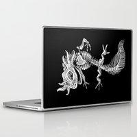 bouletcorp Laptop & iPad Skins featuring Axolotl Skeleton by Bouletcorp
