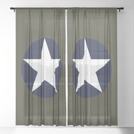 USAAF Roundel Sheer Curtain